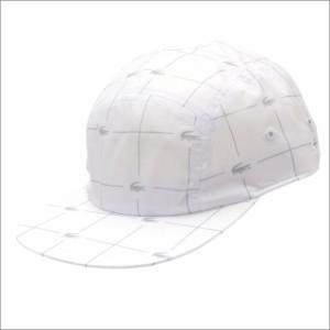 (新品)SUPREME x LACOSTE Reflective Grid Nylon Camp Cap WHITE 265-001033-110 (ヘッドウェア)