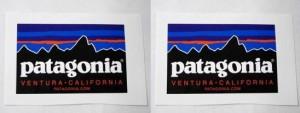 パタゴニア ロゴ ステッカー 2枚セット