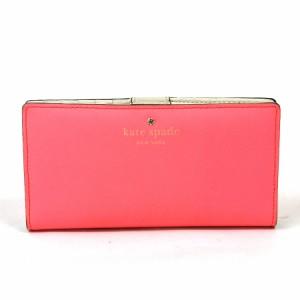 c5b6af97e488 【定番人気】【中古】ケイトスペード 二つ折り財布 レディース ピンク系 x2224