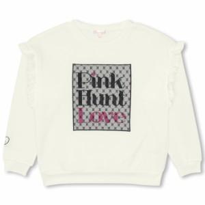 10/25NEW PINKHUNT 肩フリルトレーナー-キッズ ジュニア ベビードール 子供服-9808K