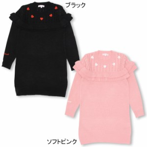 10/25NEW♪PINKHUNT フリルニットワンピース-キッズ ジュニア ベビードール 子供服-9814K