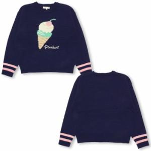 アウトレットSALE50%OFF PINKHUNT アイスクリーム ニットトップス-キッズ ジュニア ベビードール 子供服-9822K