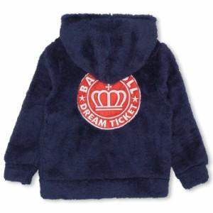 親子ペア ワッペンボアジップパーカー ベビーサイズ キッズ ベビードール 子供服-9992K