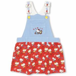 NEW サンリオ 総柄切替ジャンパースカート-ベビーサイズ キッズ ベビードール 子供服 HELLO KITTY-0151K