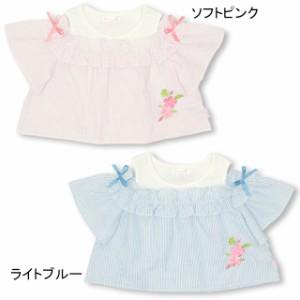 SS_SALE50%OFF PINKHUNT 刺繍肩あき Tシャツ キッズ ジュニア ベビードール 子供服-0432K