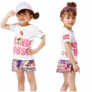 SS_SALE50%OFF 親子ペア ディズニー サングラス Tシャツ ベビーサイズ キッズ ベビードール 子供服 /DISNEY -0485K