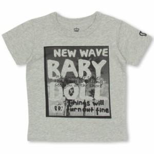 SS_SALE50%OFF 親子ペア ビーチメッセージ Tシャツ ベビーサイズ キッズ ジュニア ベビードール 子供服-0583K(150cmあり)