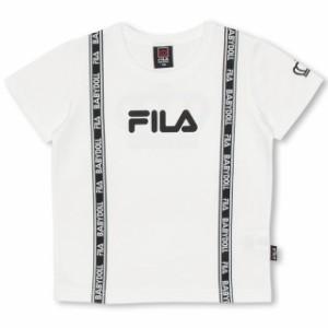 7/10一部再販 7/6〜 SS_SALE30%OFF 親子ペア FILA ロゴライン Tシャツ ベビーサイズ キッズ ベビードール 子供服-0698K