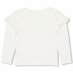 SALE50%OFF アウトレット PINKHUNT リブ編みフリル ロンT  キッズ ジュニア ベビードール BABYDOLL 子供服 -0724K