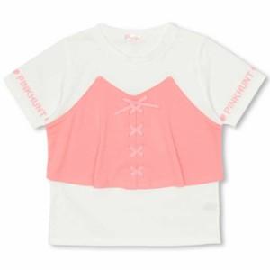 SS_SALE50%OFF PINKHUNT ビスチェ付きTシャツ キッズ ジュニア ベビードール 子供服-0736K
