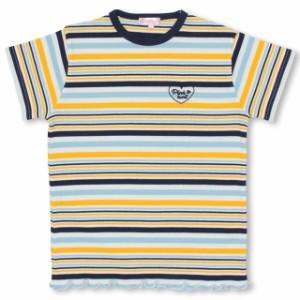 SS_SALE50%OFF PINKHUNT マルチボーダーTシャツ キッズ ジュニア ベビードール 子供服-0738K