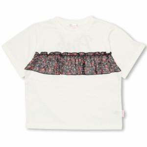SS_SALE60%OFF PINKHUNT 花柄前フリルTシャツ キッズ ジュニア ベビードール 子供服-0740K