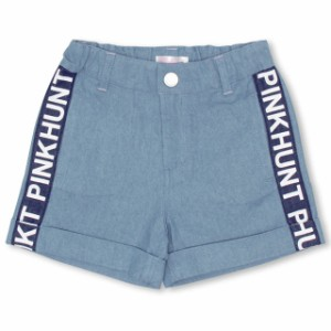 SS_SALE60%OFF PINKHUNT サイド切替デニムショートパンツ キッズ ジュニア ベビードール 子供服-0746K