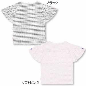 SS_SALE50%OFF PINKHUNT ドットフリルTシャツ キッズ ジュニア ベビードール 子供服-0750K
