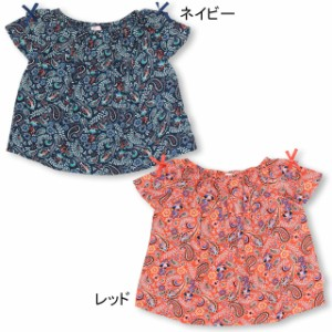 7/20〜SS_SALE50%OFF PINKHUNT ペイズリー柄Tシャツ キッズ ジュニア ベビードール 子供服-0751K