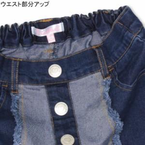 11/8一部再販 NEW PINKHUNT デニム スカート風 ショートパンツ 0915K ベビードール BABYDOLL 子供服 キッズ ジュニア 女の子
