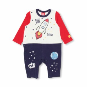 7/11NEW SPACE ロンパース 1015B ベビードール 子供服 ベビーサイズ 男の子 女の子 長袖 おしゃれ お揃い セット