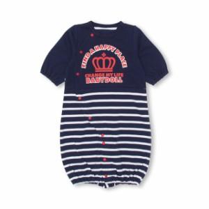 7/11NEW ボーダー 2wayオール カバーオール 1023B ベビードール 子供服 ベビー服 ベビーサイズ 新生児 男の子 女の子