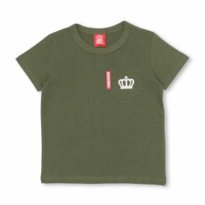 SS_SALE50%OFF 7/2NEW 親子ペア ポケット Tシャツ ベビーサイズ キッズ ペアルック ベビードール 子供服 -1127K