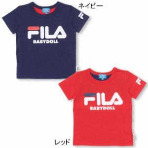 7/4NEW ドラえもん FILA バックキャラ Tシャツ ベビーサイズ キッズ ベビードール 子供服 -1205K