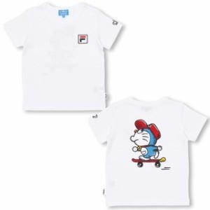 7/4NEW ドラえもん FILA 胸ロゴ Tシャツ ベビーサイズ キッズ ベビードール 子供服 -1209K