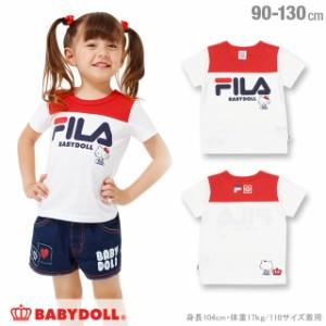 7/4NEW サンリオ FILA キティちゃん Tシャツ ベビーサイズ キッズ ベビードール 子供服 -1214K