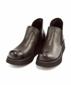 厚底 サイドゴアブーツ ショートブーツ メンズ フープディドゥ Whoop-de-doo 377322 ブラック