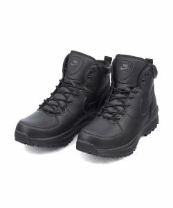 ナイキ ハイカット スニーカー ブーツ メンズ マノアレザー MANOA LEATHER NIKE 454350 ブラック/ブラック/ブラック