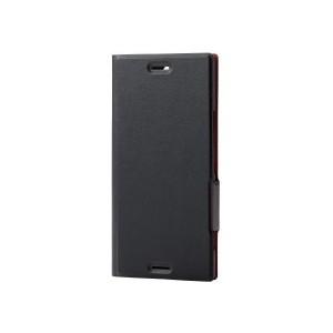 309e689400 ELECOM PM-XXZPPLFUMBK Xperia XZ Premium(SO-04J) ソフトレザーカバー 薄型