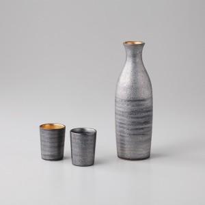 西日本陶器 TC03-02プラチナ塗り(金) 2合半酒器揃