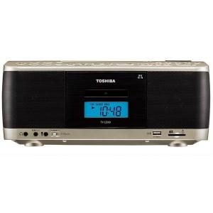 東芝 TY-CDX9 サテンゴールド [CDラジカセ(ラジオ+SD+USBメモリー+CD+カセットテープ)]