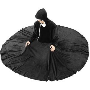 BIBILAB HFK-L-BK ブラック [セルフこたつ着る毛布(サイズL)]