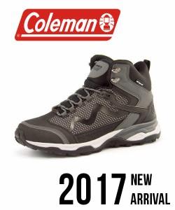 ブラック (コールマン) Coleman メンズ トレッキングミッドスニーカー 【防水】 576406
