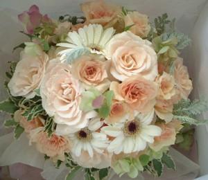 【結婚祝いの花 父の日 11】 おまかせ! 淡ピンクブーケ 花束  花ギフト結婚祝いの花祝い、