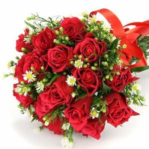 【結婚祝いの花 父の日 14】 おまかせ!赤バラの花束 ブーケ  花ギフト結婚祝いの花祝い、誕