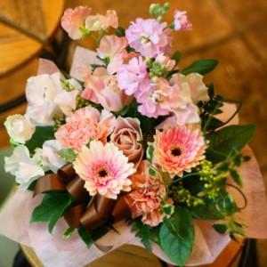 【結婚祝いの花 父の日 28】 おまかせ!ピンク系アレンジメント  花ギフト結婚祝いの花祝い、