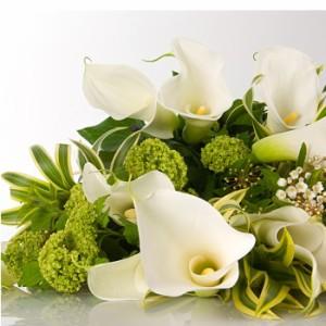 【結婚祝いの花 父の日 33】 おまかせ!ホワイト、グリーン系花束ブーケ 花ギフト結婚祝いの花