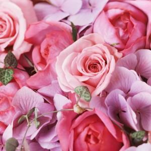 【結婚祝いの花 父の日 41】 おまかせ!ピンク系フラワーアレンジメント 花ギフト結婚祝いの花