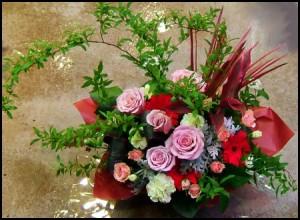 【結婚祝いの花 父の日 45】 おまかせ!ナチュラル フラワーアレンジメント 花ギフト結婚祝い