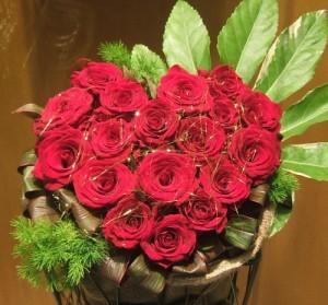 【結婚祝いの花 父の日 49】 おまかせ!ハート赤バラアレンジメント 花ギフト結婚祝いの花祝い