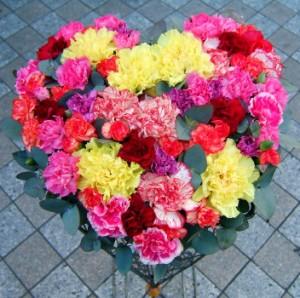 【結婚祝いの花 父の日 50】 おまかせ!ハート フラワーアレンジメント 花ギフト結婚祝いの花
