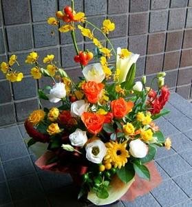 【結婚祝いの花 父の日 52】 おまかせ!ミックスフラワーアレンジメント 花ギフト結婚祝いの花