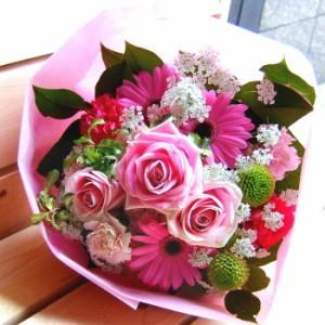 【結婚祝いの花 お祝い 6】父の日 ギフト おまかせ! ピンクブーケ 花束  花ギフト結婚祝いの花祝い、誕