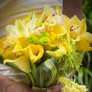 【結婚祝いの花 父の日 67】 おまかせ!黄色オレンジ系ブーケ 花束  花ギフト結婚祝いの花祝
