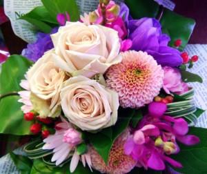 【結婚祝いの花 父の日 7】 おまかせ! ヨーロピアンブーケ 花束  花ギフト結婚祝いの花祝い、