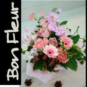 【結婚祝いの花 父の日 82】 おまかせ!ピンク系フラワーアレンジメント 花ギフト結婚祝いの花
