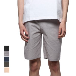 96459c645e パンツ ハーフパンツ ショートパンツ ショート丈 綿 無地 リネン ストレッチ ボトムス メンズ ベージュ ブラック SALE