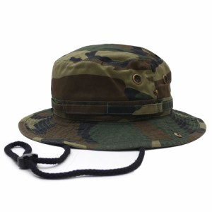 1f1855fc154a0d ニューハッタン NEW HATTAN 1510-woodland Safari Hat ミリタリー サファリ ハット CAMO カモ 迷彩 メンズ
