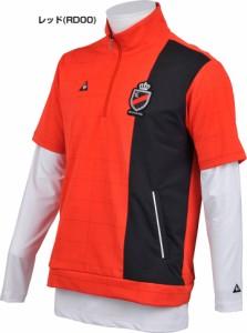 ルコック メンズ ゴルフウェア ハーフジップ モックネック 半袖シャツ + 長袖インナーシャツ QGMLJL52W 2018年春夏モデル M-3L
