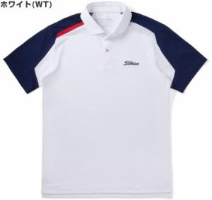 タイトリスト ウェア メンズ ゴルフ クーリングプリント ドライカノコ 半袖ポロシャツ TSMC1825 2018年春夏モデル